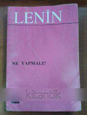 Ne Yapmali Lenin Ikinci El Kitap Kitantik 022170844723