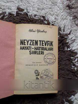Neyzen Tevfik Hayati Hatiralari şiirleri Hilmi Yücebaş Ikinci El