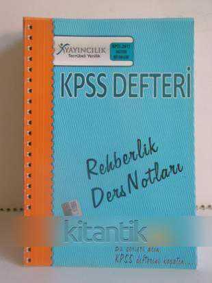 KPSS DEFTERİ REHBERLİK DERS NOTLARI
