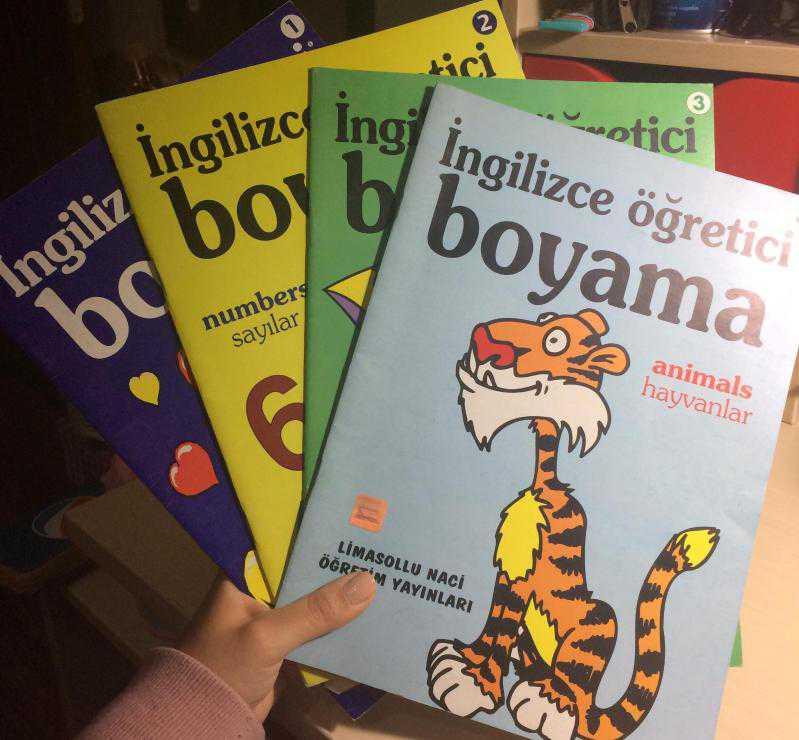 Ingilizce öğreten Boyama 4 Kitap En çok Kullanilan Kelimeler 3