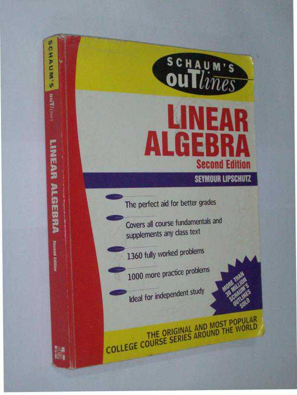 Summary Schaums Outline Of Linear Algebra Sixth Edition Schaum
