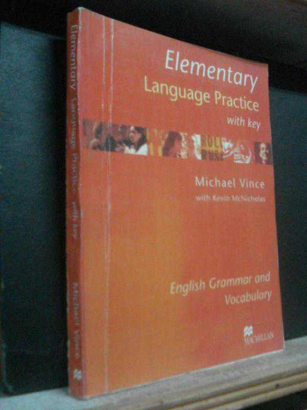 vince решебник language elementary by practice michael