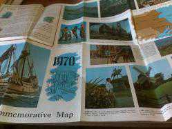 PLYMOUTH 350 th COMMEMORATIVE MAP 1620-1970 HARİTA+