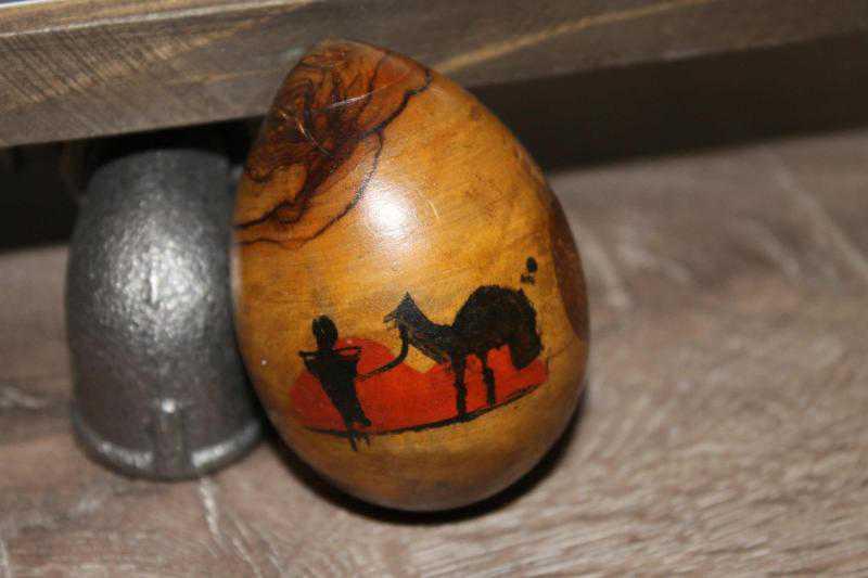 El Boyama Ahşap Yumurtamısır Ve Piramit Görselli çok Dekoratif Ve