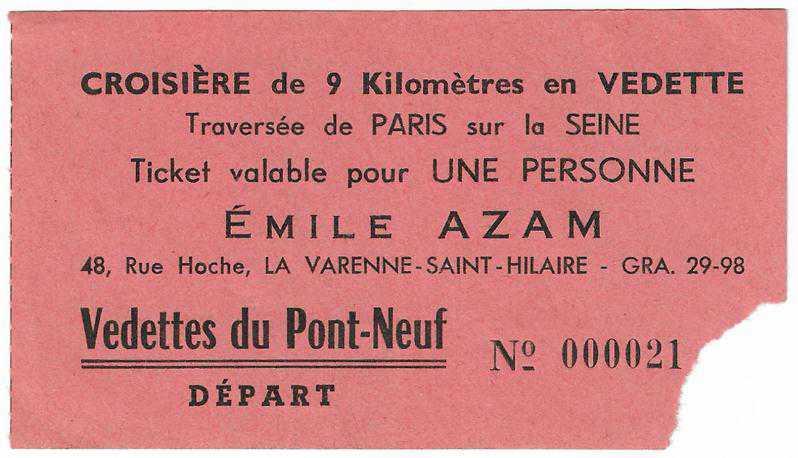 Yabanc Biletler Croisiere De 9 Kilometres En Vedette No 000021