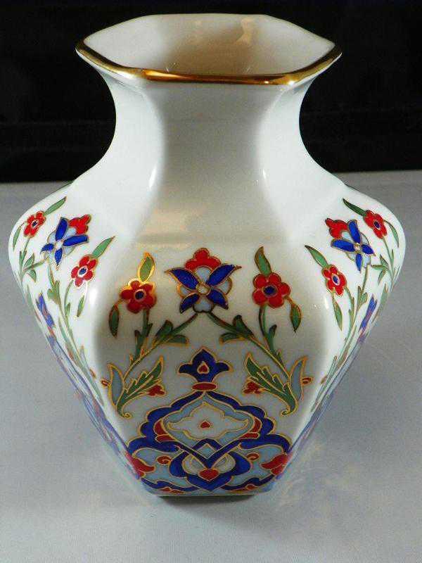 Kütahya Porselen El Boyama Vazo 15 Cm Antika ürün Kitantik
