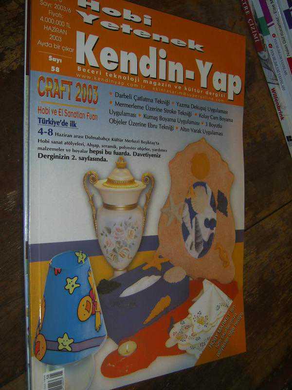 Hobi Yetenek Kendin Yap Dergisi 2003 Sayi 58 Darbeli çatlatma