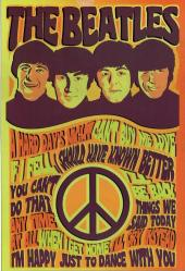 The Beatles, Retro Ahşap Poster 20 cm 30 cm