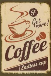 Coffee , Retro Ahşap Poster 20 cm 30 cm
