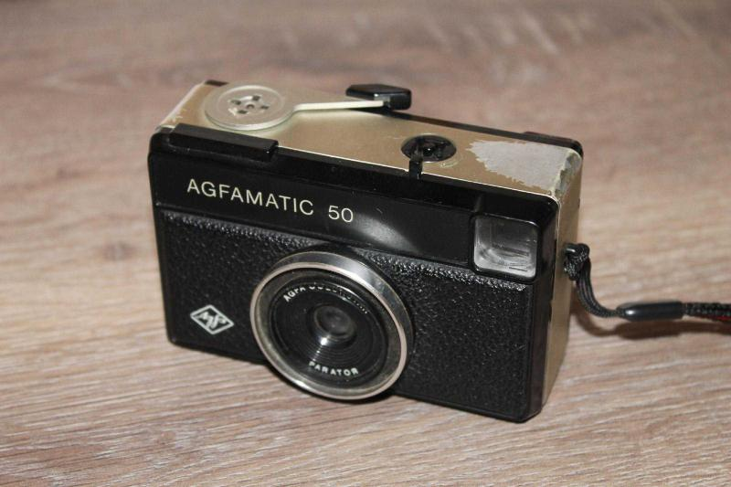 Cok Eski Agfamatic 50 Filmli Fotograf Makinesi Sorunsuz Calisir